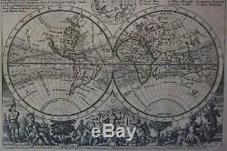 Weltkarte. Herman Moll. A new Map of the whole World. Kupferstich-Karte ca. 1732