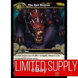 World of Warcraft THE RED BEARON Loot NEW UNSCRATCHED WoW English