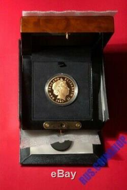 10 Dollars 2003 Nouvelle-zélande Le Seigneur Des Anneaux Gold Proof Box Coa