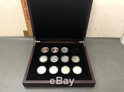 11 Pc. Seigneur Des Anneaux En Argent Sterling 2003 Nouvelle-zélande Coin Set 28 Grammes Chacun