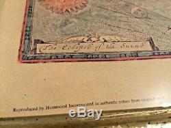 1651 New Et Accurat Carte Du Reproduit Du Monde Par Hammond Corp Couleur Authentique