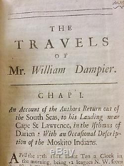 1698 William Dampier, Nouveau Voyage Autour Du Monde Y Compris Rthe Isthmus D'amer