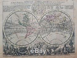 1732 Herman Moll Mapa Mundo Une Nouvelle Carte Du Monde Entier Avec Les Alizés