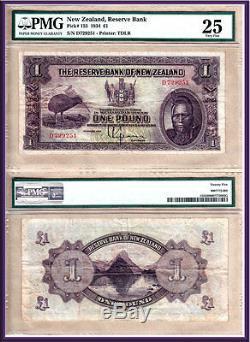 1934 £ 1 Chef Maori La Banque De Réserve De Nouvelle-zélande, Wellington. P-155