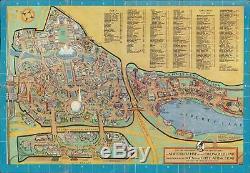 1940 Rose Pictorial Carte De L'exposition Universelle De 1940 À New York Du Monde