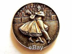 1964 J. T. & Co. Nouvelles Du Monde Butlin Veleta Danse Trophée Médaille Sterling