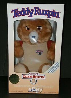 1985 Worlds Of Wonder Teddy Ours Ruxpin The Original Storytelling Toy Nouveau Dans