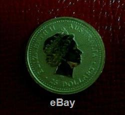 2002 Australie Annee Du Cheval Lunaire Série 1 25 $ 1/4 Onces. 9999 Gold Nouveau