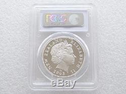 2003 Nouvelle-zélande Le Seigneur Des Anneaux Saruman $ 1 Dollar Silver Proof Coin Pcgs Pr70