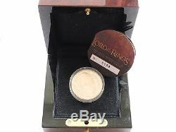 2003 Nouvelle-zélande Seigneur Des Anneaux 10 $ Ten Dollar Proof Gold Coin Box Coa