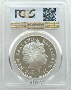 2003 Nouvelle-zélande Seigneur Des Anneaux Anneau 1 $ Proof Silver Coin Pcgs Pr69