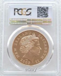 2003 Nouvelle-zélande Seigneur Des Anneaux Anneau 10 $ Gold Dollar Proof Coin Pcgs Pr70