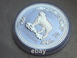 2007 Australie $1 2010 Lunar I Silver. 999 1oz Année Du Tigre Gilded Gilt Nouveau