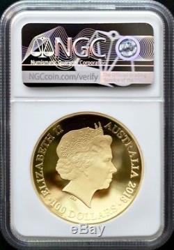2018 Australia Gold 1oz $ 100 1626 Nouvelle Carte Du Monde Ngc Pf70 - Premiers Lancements