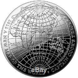 2019 Australie 1 Oz. Argent 999 1812 Une Nouvelle Carte Du Dôme Terrestre Mondial