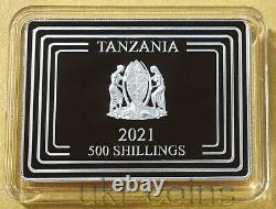 2021 Tanzania Lunar Year Of The Ox Silver Color Gilded Coin Nouvelle-zélande Menthe