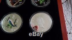 4 X 1 Oz Silver Birds Des Îles Fidji 2007 Nouvelle-zélande