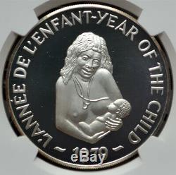 500 Francs Hébrides Nouveau 1979 Argent Ngc Pf67 Ucam Année De L'enfant Rare Mtg. 60