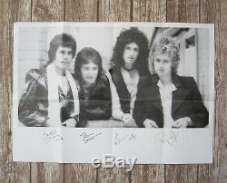 Affiche De La Reine Groupe D'origine 1977 Nouvelles Du Monde Promo Freddie Mercury