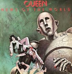 Album Autographes De Lp De La Reine Entièrement Signée 'nouvelles Du Monde' Freddie Mercury