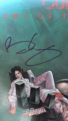 Album De Lp Autographié Par Le Groupe Queen Rock Par Brian May Roger Taylor
