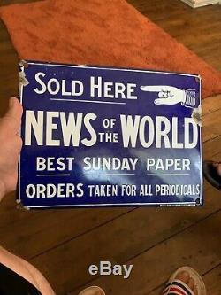 Anciennes Enseignes Métalliques News Of The World