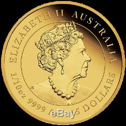 Année Lunaire De La Souris Australienne 2020 Pièce De 15 Usd En Or Preuve 1/10 Oz Nouvelle Série 3