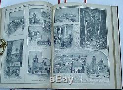 Antiquarian Rand Mcnally Nouvel Atlas Standard Du Monde 1890 Cartes De Couleur Dur