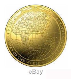 Australien $ 100 Nouvelle Carte Du Monde James Cook Pièce De 1 Oz Gold Domed 2018