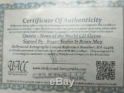 Autograph Nouvelles Du Monde Reine Signé X2 Brian May Roger Taylor