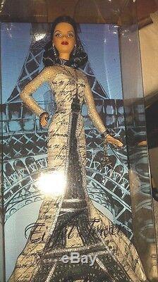 Barbie Collector Dolls T3771 De La Poupée Du Monde Tour Eiffel Nouveau Nrfb
