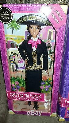 Barbie Mariachi Mexico 2014 Et Poupées Du Monde Passeport Du Monde 2012 Nouveau Nrfb
