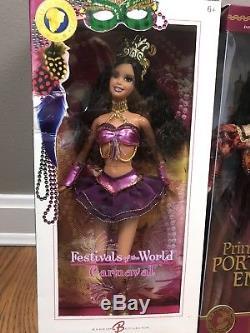 Barbie Pink Label Poupées Du Monde Lot 4 Carnaval Mexique Grèce Portugaise Nouveau
