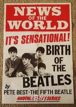 Beatles Originale Nouvelles Du Billboard Mondial Poster