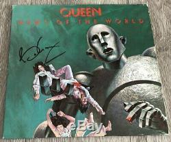 Brian Mai Signe Autograph Queen Nouvelles De La Preuve Album Du Monde Vinyl Withexact