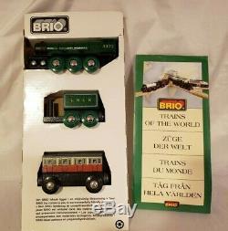 Brio Véritable Rare En Bois Flying Scotsman 33433 Train De La World Series Nouveau