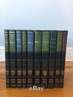 Britanica Grands Livres Du Monde Occidental 54 Volumes Complete Set 1987 Comme Nouveau