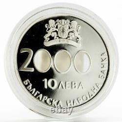 Bulgarie 10 Leva Le Début Du Nouveau Millénaire Preuve Pièce D'argent 2000