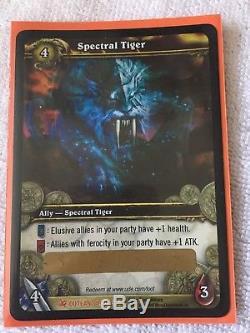 Carte Du Butin Du Tigre Spectral World Warcraft Rênes De Mont Rare Et Rare Épique Nouveau