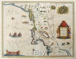 Carte Du Nouveau Monde Amerika Manhattan Nova Belgica Et Anglia Nova Tiere 1640