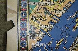 Carte Vintage Originale De Macy Représentant New York De L'exposition Universelle De 1939, R. Patterson