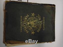 Cartes De L'ère De La Guerre Civile Illustrée De La Nouvelle Guerre Mondiale Illustrée Par Johnson De 1865
