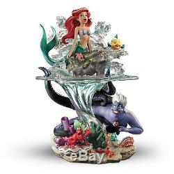 Disney La Petit Mermaid Ariel Partie De Son Monde Sculpture Nouveau