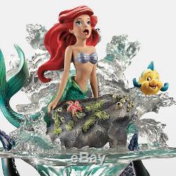 Disney The Little Mermaid Ariel Partie De Son Monde Sculpture Nouveau