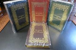 Easton Press Le Monde Des Mathématiques, James Newman. 4 Volumes, Cuir Newissealed