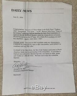 Figurine Hummel 1999 News Quotidien Série Mondiale Équipe Yankees Du Siècle
