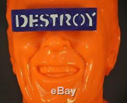 Frank Kozik Le Gipper Orange Vinyle Bust Figure Nouveau 18 Ed Ltd De 50 World Wide