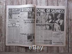 Freddie Mercury Nouvelles Du Monde Uk Newspaper 24 Novembre 1991 (queen)