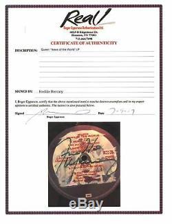 Freddie Mercury Reine Authentique Signé Nouvelles Du Monde Album Vinyle Jsa Bb41824