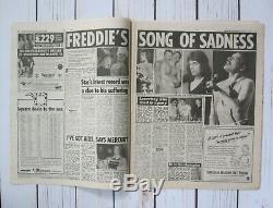 Freddie Mercury Reine J'ai Le Sida Au Royaume-uni Nouvelles Du Monde Journal 24/11/1991